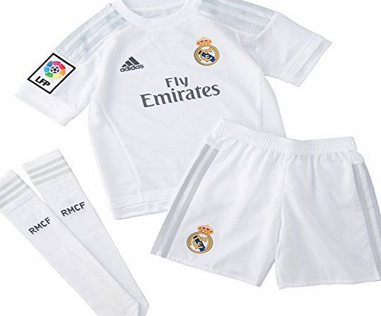 adidas Real Madrid H SMU Mini - Childrens Football Outfit multi-coloured Blanco / Gris Size:8 Years