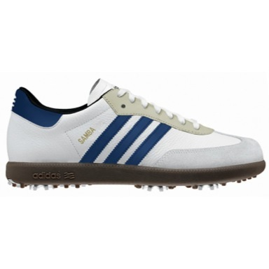 Samba Golf Shoes White/Navy/Gum plus Free