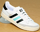 Tennis TC White/Black/Aqua Leather Trainer