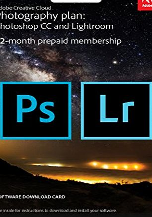 Creative Cloud Photography Plan: Photoshop CC Plus Lightroom - 12-Month Licence - Key Card (PC/Mac) - CLICK FOR MORE INFORMATION