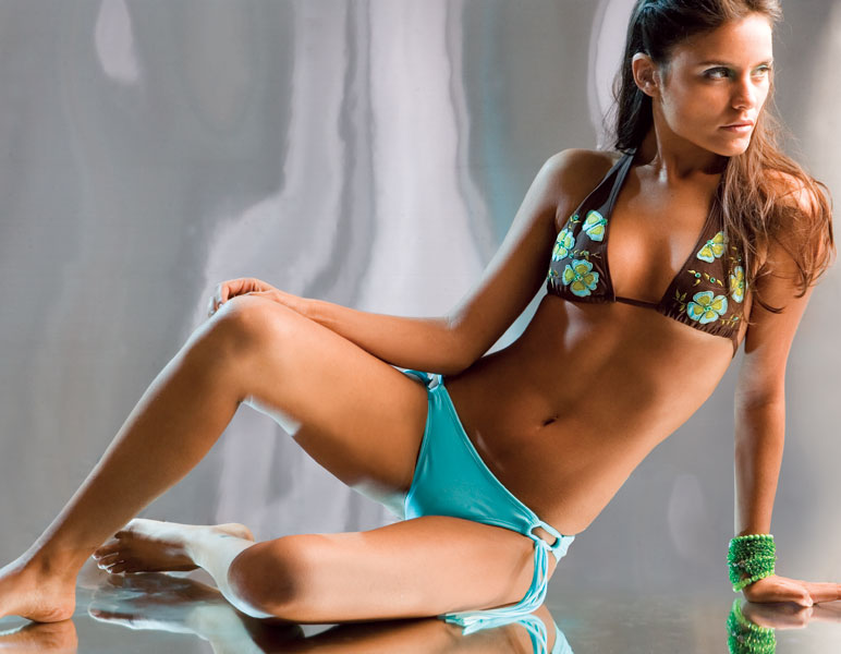 This sassy bikini by Aguaclara of Peru is fun, flirty, and downright fabulous!The chocolate halter t - CLICK FOR MORE INFORMATION