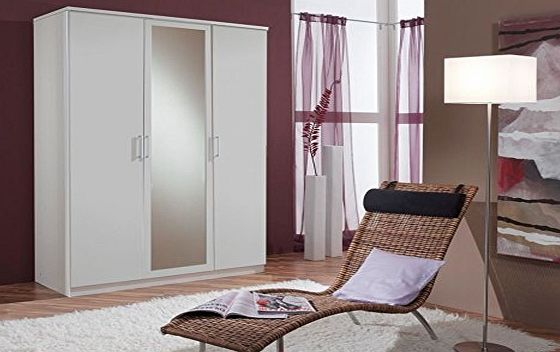 AHOC Germanica MUNICH 3 Door 1 mirror Bedroom Wardrobe in WHITE Colour