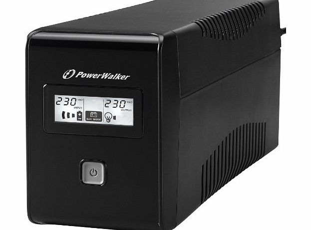 Aiptek PowerWalker VI 850 LCD - 850VA - 480W Line Interactive UPS System with LCD Display