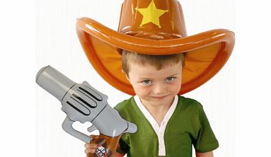 Air Hedz Inflatable Cowboy Hat and Gun
