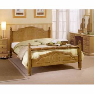 Beautiful bedrooms need beautiful beds and the stylish Pine Newark Fashion Rail Bedstead will compli - CLICK FOR MORE INFORMATION