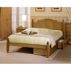 Beautiful bedrooms need beautiful beds and the stylish Pine Newark Bedstead will compliment any bedr - CLICK FOR MORE INFORMATION