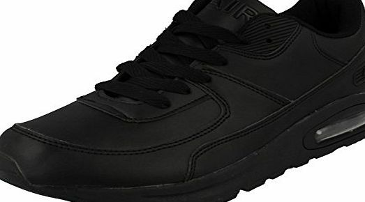 Airtech Mens Airtech Casual Lace Up Trainer Intercept - Black Synthetic - UK Size 9 - EU Size 43 - US Size 10