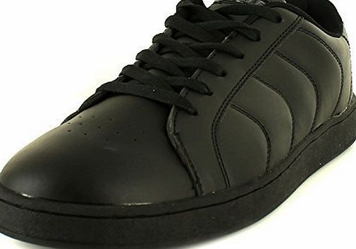 Airtech New Mens/Gents Black Airtech New York Lace Ups Tennis Style Trainers. - Black - UK SIZE 11