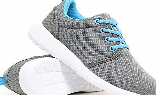 Airtech Womens Shock Absorbing Running Shoes Trainers Ladies Gym Shoe Fitness Trainer (5 UK, S1 Grey)