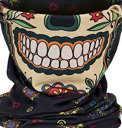 Aiyuda Neck Tube Motorcycle 3D All Over Print Bandana Neck Gaiter Thin Ski Mask Multifunctional Headwear Ear Warmer Headband Headwrap Skull Clown