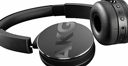AKG Y50BT Portable Foldable On-Ear Rechargeable Bluetooth Headphones - Black
