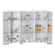 3 door cabinet illuminated white