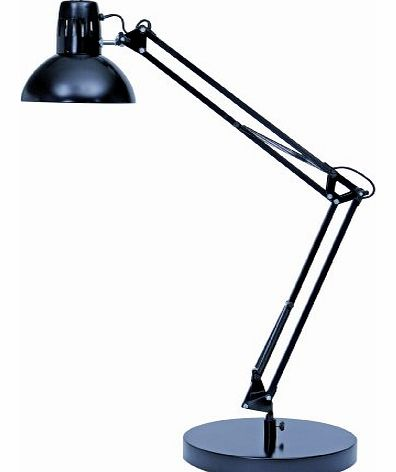 Alba Architect Double Arm Desk Lamp Black