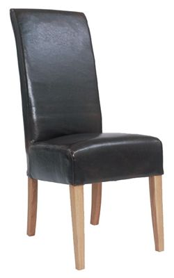 Alba Brown Dining Chair - Fully Upholstered