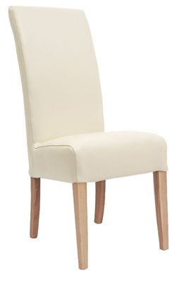 Alba Cream Dining Chair - Fully Upholstered