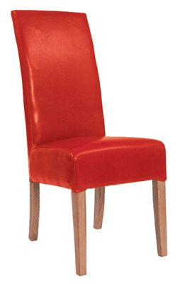Alba Red Dining Chair - Fully Upholstered