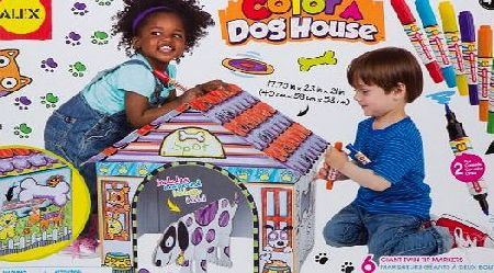 Alex Toys Colour a Dog House Childrens Craft Kit with Washable Markers and Cardboard Props