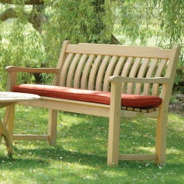 Alexander Rose Classic Iroko 5ft Curved Back Bench