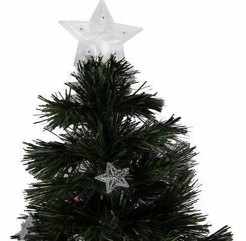 6ft Fibre Optic Christmas Tree With Stars