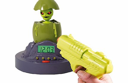 Alien Alarm Clock with Laser Gun product image