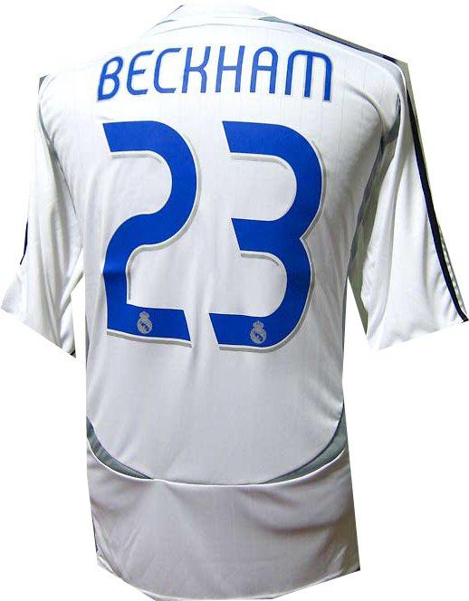best loved fbadf 0bf12 All 06-07 jerseys Adidas 06-07 Real Madrid home (Beckham 23 ...