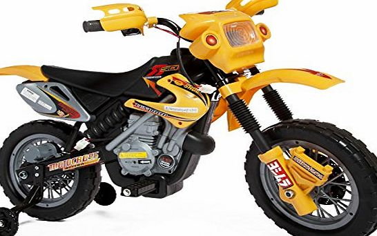 ALLKINDATOYS RIDE ON MINI MOTORBIKE WITH 6V BATTERY STABILISERS AND SOUNDS