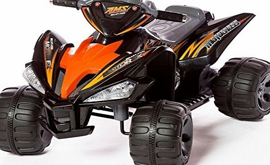 ALLKINDATOYS RIDE ON QUAD BIKE WITH 12V BATTERY TWIN MOTORS- RAPTOR STYLE
