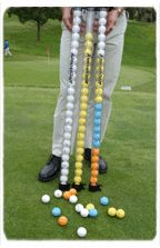ALMOST GOLF PRACTICE GOLF BALLS 2 DOZ STICK-YELLOW