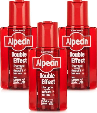 Alpecin, 2102[^]0066625 Double Effect Shampoo - Triple Pack