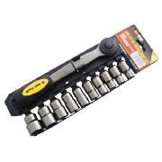 Am-Tech 11pc 1/2 Drive Black Nickel Socket Set product image