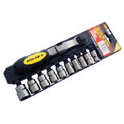 Am-Tech 11pc 3/8 Drive Black Nickel Socket Set product image