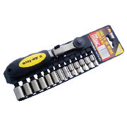 Am-Tech 14pc 1/4 Drive Black Nickel Socket Set product image