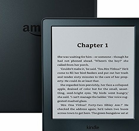 Amazon All-New Kindle E-Reader, 6`` Glare-Free Touchscreen Display, Wi-Fi (Black) - Includes Special Offers