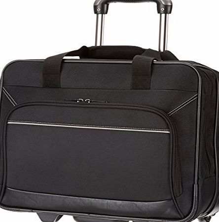 AmazonBasics Rolling Laptop Case on Wheels - Fits Most Laptops up to 16``