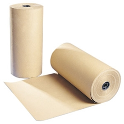 Strong, thick brown paper for packaging 300 metres per roll 70gsm pure kraft. Packaging Wrap Model: MG-500 - CLICK FOR MORE INFORMATION
