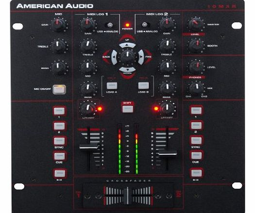American Audio 1121000008 2-Channel MIDILOG DJ Mixer product image