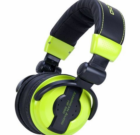 American Audio 64 Ohms Professional Foldable DJ Headphones - Green product image