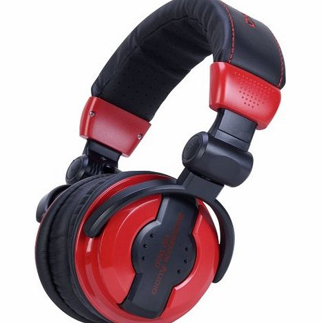 American Audio 64 Ohms Professional Foldable DJ Headphones - Red product image