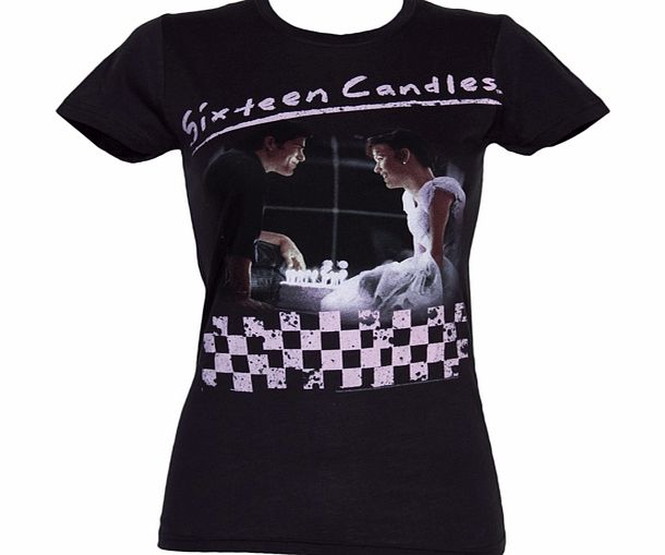 American Classics Ladies Sixteen Candles Birthday Cake T-Shirt product image
