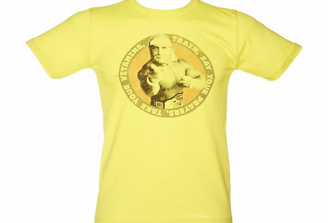 American Classics Mens Take Your Vitamins Yellow Hulk T-Shirt product image