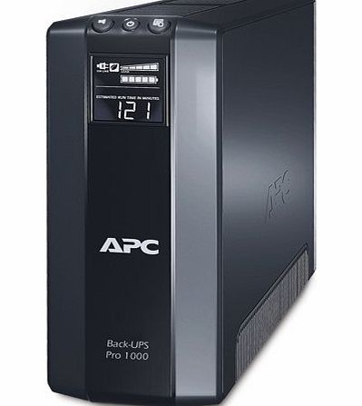 American Power Conversion Back-UPS Pro 1000 Battery Backup System, 1000 VA, 8 Outlets, 355 J