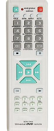 Amico Audio Video Player DVD Universal Remote Control Controller White