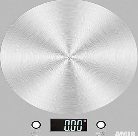Amir Digital Kitchen Scales, Electronic Cooking Food Scale with LCD Display, Accurate Gram and Slim Design (Sliver)
