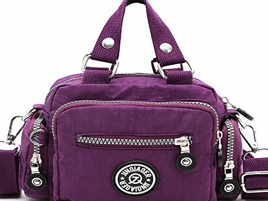 Amison Classic Waterproof Nylon Handbag Shoulder Diagonal Bag Messenger (Purple)