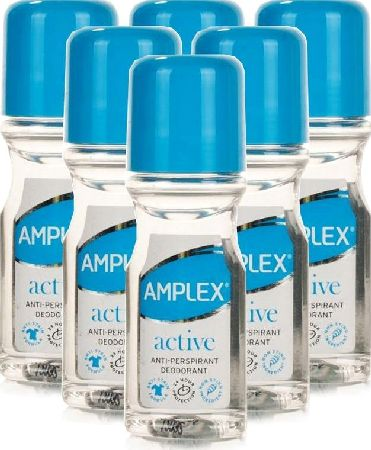 Amplex, 2102[^]0099463 Antiperspirant Roll On Active 60ml - 6 Pack