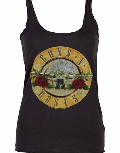 Amplified Clothing Ladies Guns N Roses Drum Strappy Vest from