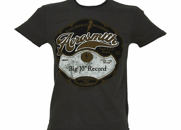 Amplified Clothing Mens Aerosmith Big 10 Record T-Shirt from product image