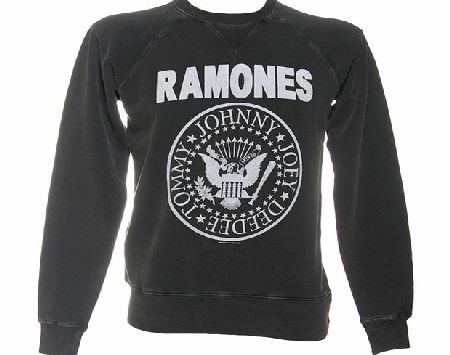 Mens Ramones Logo Charcoal Sweater from