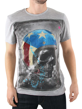 Amplified Grey American Helmet T-Shirt product image