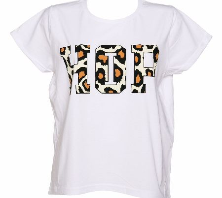 Amplified Ladies Premium White Flocked Hip Hop Print product image